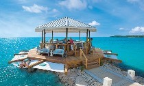 Latitudes⁰ Overwater Bar at Sandals South Coast, Jamaica